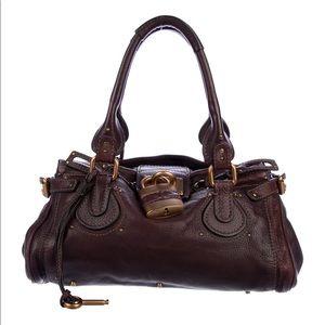 Chloé Paddington Leather Burgundy Bag